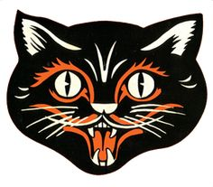 Image Result For Vintage Halloween Cat Printable