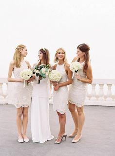 Pearl colored bridesmaid dresses   Ann-Kathrin Koch