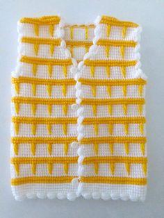 muecos de ganchillo Tunus i Tula Desenli Fstk Oya Sslemeli ocuk Yelei Yapm. Pull Crochet, Gilet Crochet, Crochet Vest Pattern, Crochet Baby Cardigan, Tunisian Crochet, Knit Crochet, Crochet Patterns, Crochet Baby Clothes Boy, Baby Boy Knitting