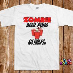 7d21b7771 Beer Pong Tshirt Bar College Pub Frat Party Flip Cup Drinking Tee Shirt  University Club St