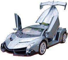 NuoYa001 Grey 1:32 Lamborghini Veneno sports car Diecast Car Model Collection Sound&Light | Die Cast Model Cars