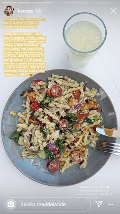 Canning Pesto, Grilled Chicken, Pasta Salad, Risotto, Cucumber, Spinach, Veggies, Ethnic Recipes, Food