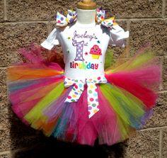 Girl Birthday Party Outfits on Sale at Posh Baby Store 1st Birthday Onesie, Birthday Party Outfits, 1st Birthday Girls, 1st Birthday Parties, Birthday Ideas, Rainbow Tutu, Rainbow Birthday, Twins 1st Birthdays, Rainbow Cupcakes