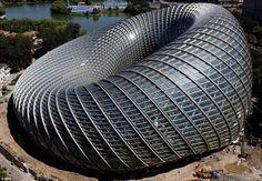 View of the Phoenix International Media Center under construction in Beijing in September