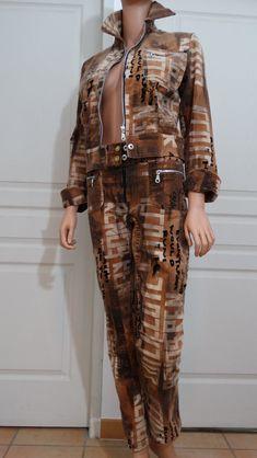 Vintage ensemble femme pantalon et veste velours Carla Kops taille 36 hiver 96027c2bb6b