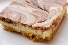 Nutella Swirl Cheesecake Bars | Bake or Break