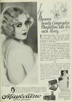 Vintage Advert for Maybelline - Photoplay March 1929 by CharmaineZoe, via Flickr