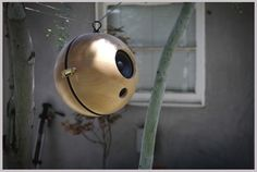 Fashion an amazing set of speakers using wooden salad bowls. | 31 DIY Ways To Make Your Backyard Awesome This Summer