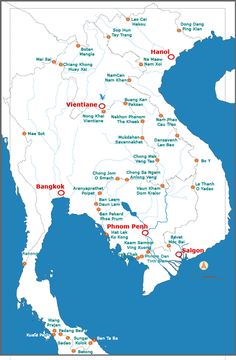 map of all international crossings between cambodia laos thailand and vietnam laos thailandtravel mapsasia