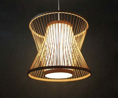 Creative Staggered Form Bamboo Sheet and Parchment Pendant Lamp-One Lamp Holder Bamboo Color Plug In Pendant Light, Pendant Lamp, Rattan Lampe, Bedroom Minimalist, Handmade Lamps, Zaha Hadid, Ceiling Lights, Ceiling Canopy, Incandescent Bulbs