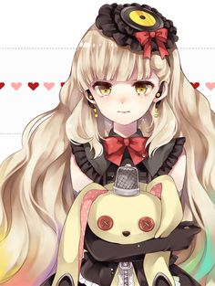 Vocaloid Mayu <------ I love her SO much! She looks all adorable, but *bam!* she's yandere! I love that.