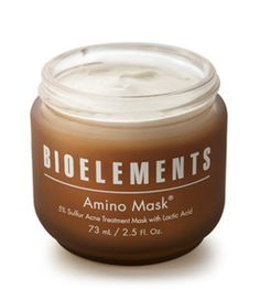 Need 15 minute fix to treat your #acne breakouts and allow them to heal? Amino mask uses sulfur to penetrate pores and remove excess oil, while lactic acid gently exfoliates to keep skin smooth and clear.