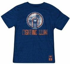 Illinois Fighting Illini Navy Vintage Chief llliniwek Tri-Blend T-Shirt by adidas Originals. $25.99. Officially licensed by the NCAA. Distressed screen print graphics. Rib knit collar. Machine washable. 50% Polyester/37.5% Cotton/12.5% Rayon. Show pride for your school and rock a cool look with this Adidas Illinois Fighting Illini Adult Vintage Chief Llliniwek Tri-Blend T-Shirt. This Illinois Fighting Illini t-shirt features distressed screen print graphics and...