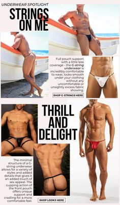 The perfect amount of coverage while showing more of you - the G-string mens underwear is an effortlessly sexy staple of men's everyday wear. Allowing you full range of movement, check out these G-string picks available now at Johnnies Closet.