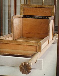Replica sedan chair from the funerary furniture of Queen Hetepheres I wife of Pharaoh Sneferu and the mother of Khufu, 4th dynasty, near the satellite pyramids of the Great Pyramid of Giza in shaft G7000X of a pit tomb