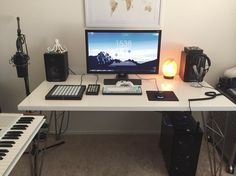 Music production/gaming battlestation (considering drilling holes to hide cables)
