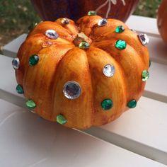 Rhinestone pumpkin by Lisa