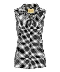 Loving this Black Haley Cool Sleeveless Polo - Women on #zulily! #zulilyfinds