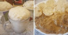 hrnickove_knedliky Dumplings, Camembert Cheese, Mashed Potatoes, Peanut Butter, Oatmeal, Snack Recipes, Pudding, Bread, Cooking
