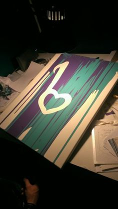 Finished product of our unity painting. Its not only a love note but a 'b' for our last name :)  #unity #wedding