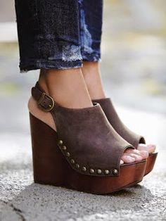 Wedges and jeans