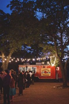 Truck Wedding: Guide to Planning, Catering, Logistics & Style! Taco stand at a wedding. Reserve a space to park the food trucks.Taco stand at a wedding. Reserve a space to park the food trucks.