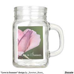"""""""Love in Summer"""" design Mason Jar"""