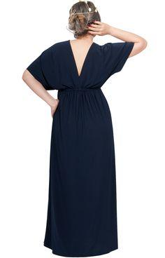 ea63950401a35 KOH KOH Womens Long Maternity Kimono Sleeve V-Neck Summer Flowy Gown Maxi  Dress at Amazon Women's Clothing store: