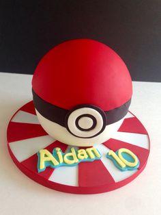 Pokemon cake using Wilton's ball pan Pokemon Go Cakes, Pokemon Party, Pokemon Birthday, 10 Birthday Cake, Twin Birthday, Cake Land, Dream Cake, Novelty Cakes, Cakes For Boys