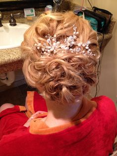 """Just one of the many up do's I've done over the years... By far one of my favorite turn outs :)   """"Mother of the bride hair"""""""