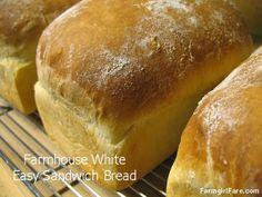 Farmgirl Fare: Farmhouse White: An Easy Basic White Sandwich Bread Recipe