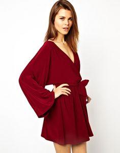 Image 1 ofASOS Kimono Wrap Dress