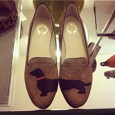 I must try to do this. Cut out a dachshund from felt and sew/glue it onto my shoes. Absolutely. You could do the same with your breed.