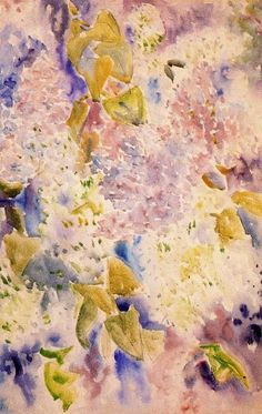 """""""Allover modèle de lilas"""", aquarelle de Charles Demuth (1883-1935, United States) Charles Demuth, Contemporary Art, United States, The Unit, Painting, Cubism, Watercolor Painting, Board, Flowers"""