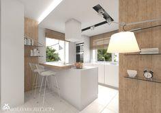 bi house - Średnia otwarta kuchnia w kształcie litery l z wyspą, styl nowoczesny - zdjęcie od Mymolo Patrycja Dąbek - homebook