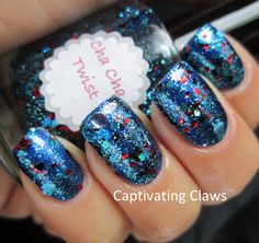 All That Glitters Cha Cha Twist over OPI Into the Night