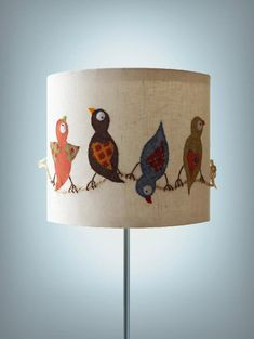 love this bird lamp! I only need the shade and please in bright girly fabric like the rest of the stuff in her board here