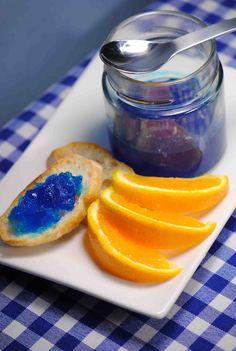 Cuisine moléculaire / molecular cuisine    Confiture de Curaçao / Curaçao marmalade