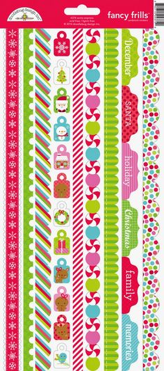 Santa Express Collection Launch & Giveaway from Doodlebug Design - santa express fancy frill sticker