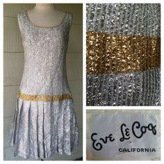 VINTAGE 60s metallic dress