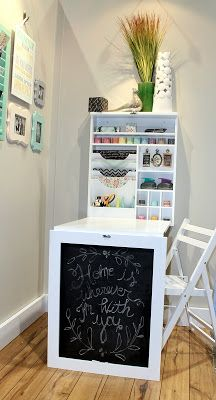 last of my summer cha favorites we r memory chalk board fold up desk - Fold Down Table