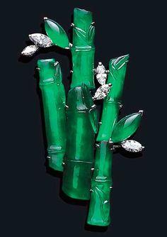 жадеит и бриллианты