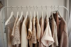 pretty clothes hanging