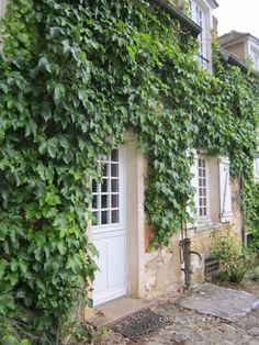 . French Country House, French Farmhouse, Magnolia Green, Green Farm, Fire Pit Backyard, Old Doors, Entrance Doors, Dream Garden, Home Living Room