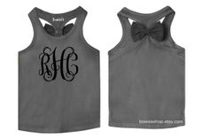 Bow Tank tops for kids Babies Toddlers Girls & Teens by Bowsieshop