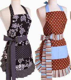 Molde do avental ou sew apron patterns . Sewing Aprons, Sewing Clothes, Diy Clothes, Flirty Aprons, Cute Aprons, Sewing Lessons, Sewing Hacks, Trousse Make Up, Apron Designs