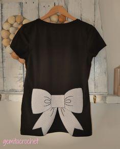 GEMITA CROCHET : Camiseta lazo , patchwork