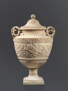 *A Fine Italian Neoclassical Carrara Marble Lidded Vase after the Antique  First Quarter 19th Century