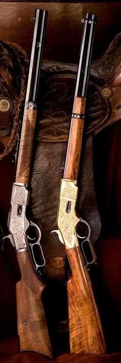 Guns that helped the good guys win the West! The Guns didn't do it by themselves! Weapons Guns, Guns And Ammo, Old West, Lever Action Rifles, Firearms, Shotguns, Revolvers, Fire Powers, Hunting Rifles