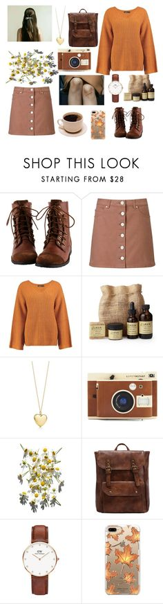 """""""dinkley's"""" by kahlucas ❤ liked on Polyvore featuring Miss Selfridge, Boohoo, SkinCare, Daniel Wellington, Casetify and CoffeeDate"""